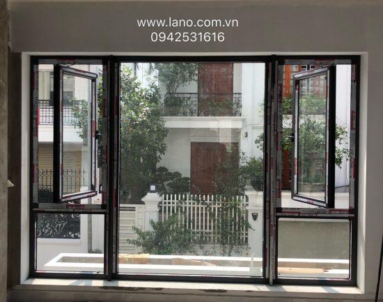 Cửa sổ mở quay 1 cánh nhôm xingfa - Công ty Lano
