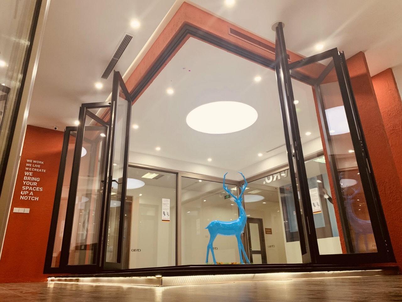 Cửa xếp trượt cánh tạo góc vuông 90 độ nhôm CIVRO phụ kiện CMECH,kiến tạo không gian cho ngôi nhà