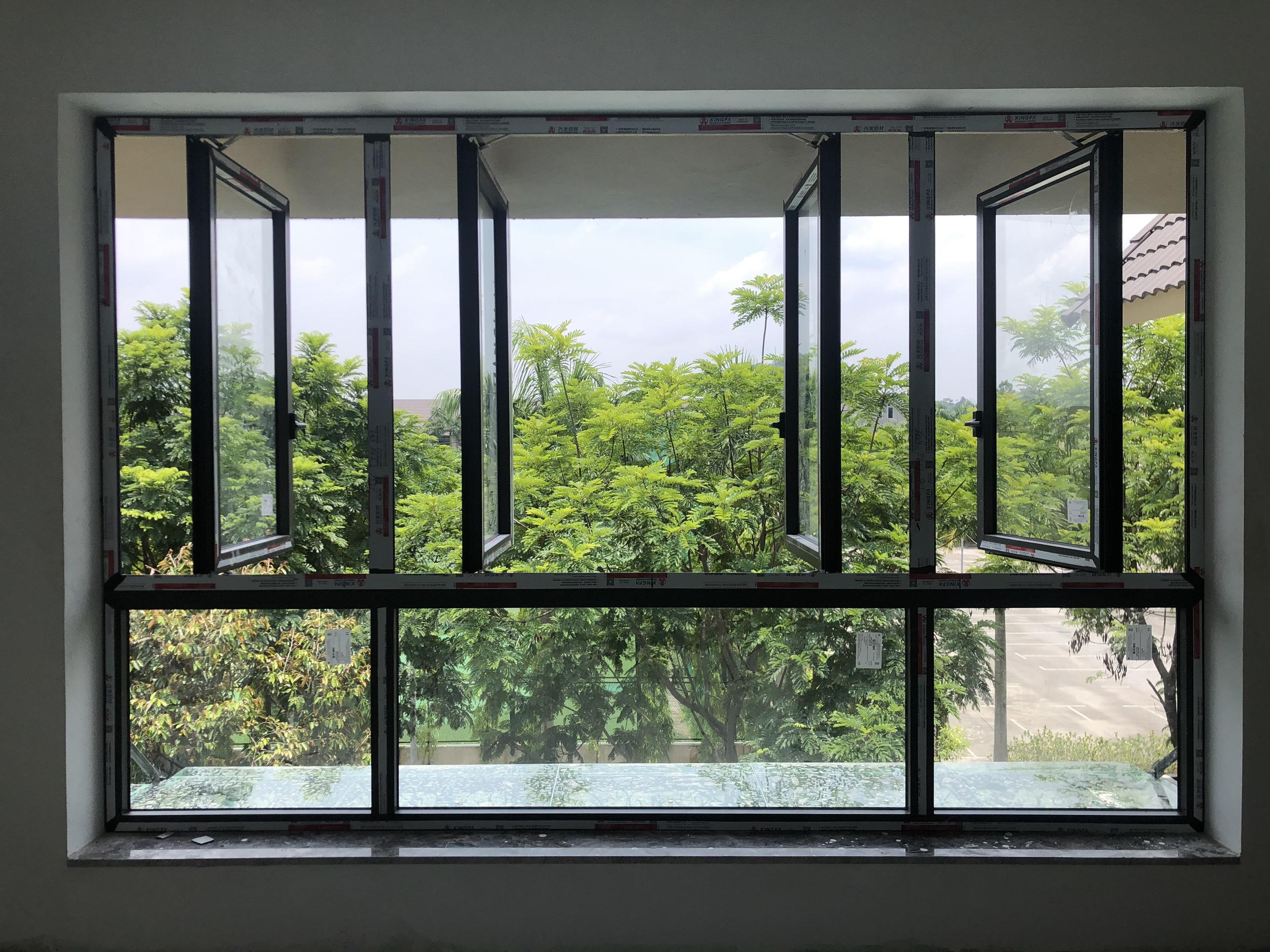 Cửa sổ mở quay 90 độ giúp lấy gió tối đa