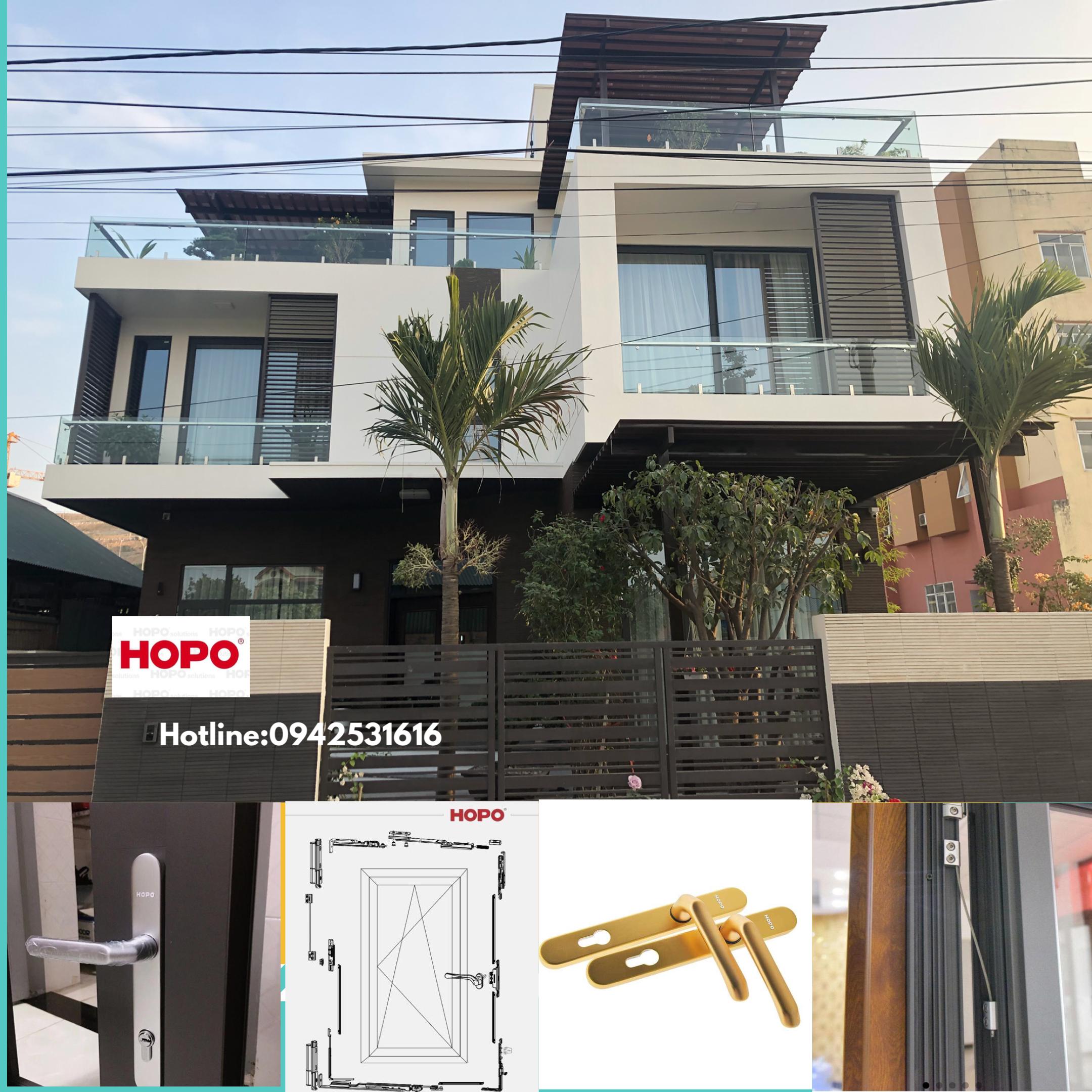 Công trình lắp đặt cửa nhôm HOPO tại Ao Cá, phường Giếng Đáy, Quảng Ninh