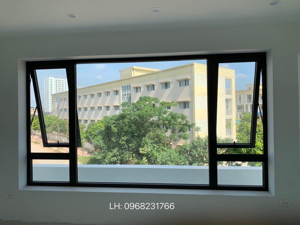Cửa sổ mở hất 2 bên vách cố định [ FIX ] giữa nhôm Xingfa nhập khẩu chính hãng