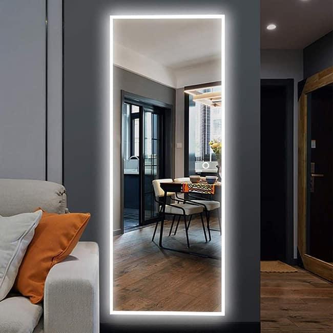 Gương soi toàn thân đèn led đep
