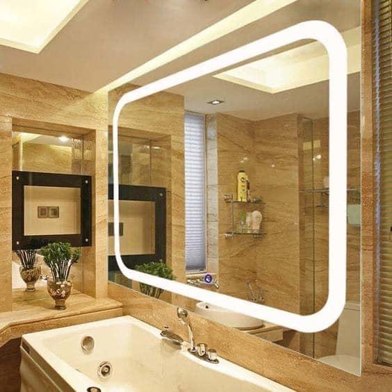 Gương soi trang trí cho phòng tắm có chiều sâu