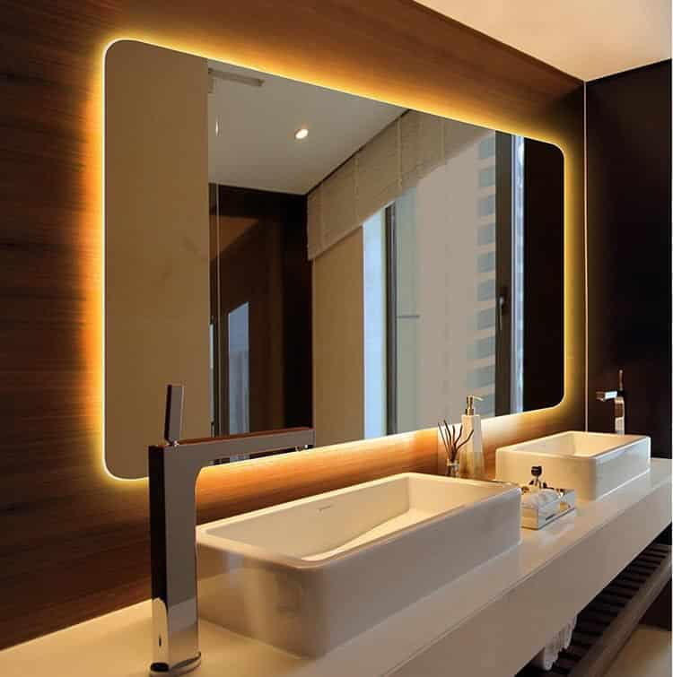 Gương đèn led phòng tắm cao cấp