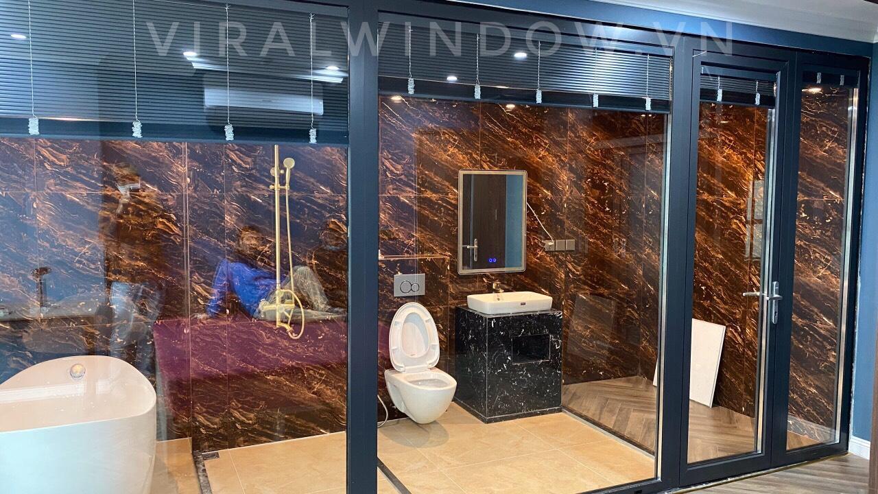 Cửa nhôm Viralwindow kết hợp phụ kiện Hopo chính hãng