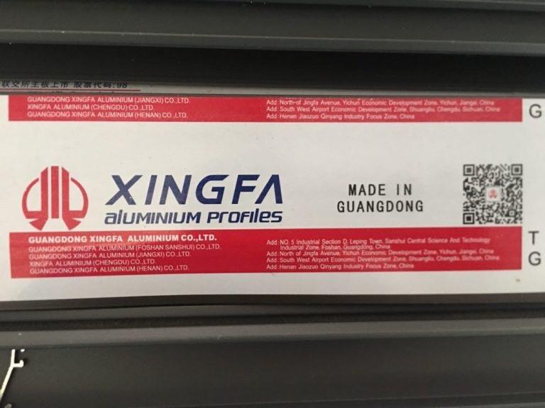 Mã QR code cửa nhôm Xingfa nhập khẩu tem đỏ