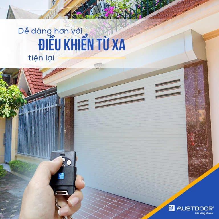 Sử dụng điều khiển từ xa để vận hành cửa