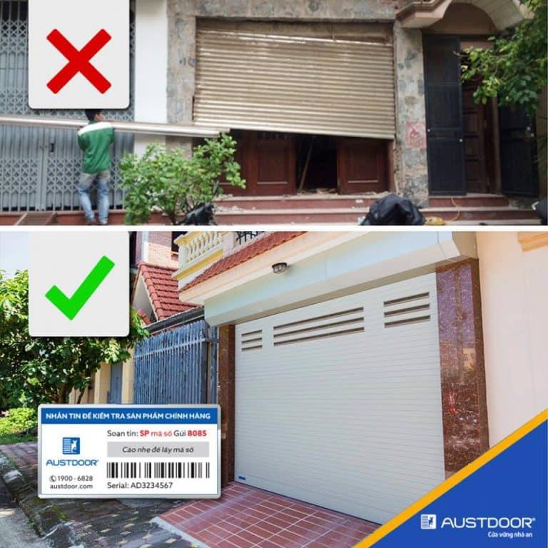 Cửa cuốn austdoor tem bảo hành điện tử
