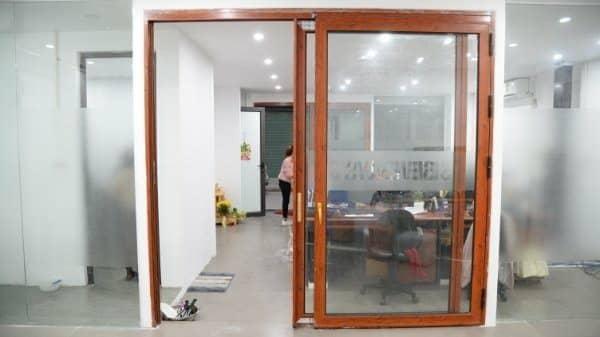 Cửa mở trượt quay 2 cánh nhôm xingfa, Zhongkai, blk, Eurotech, CAD