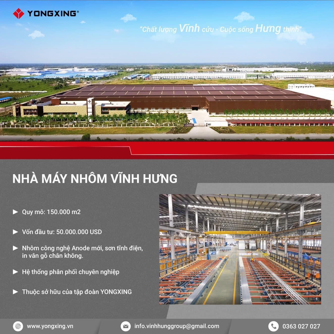Quy mô nhà máy sản xuất nhôm Yongxing anode