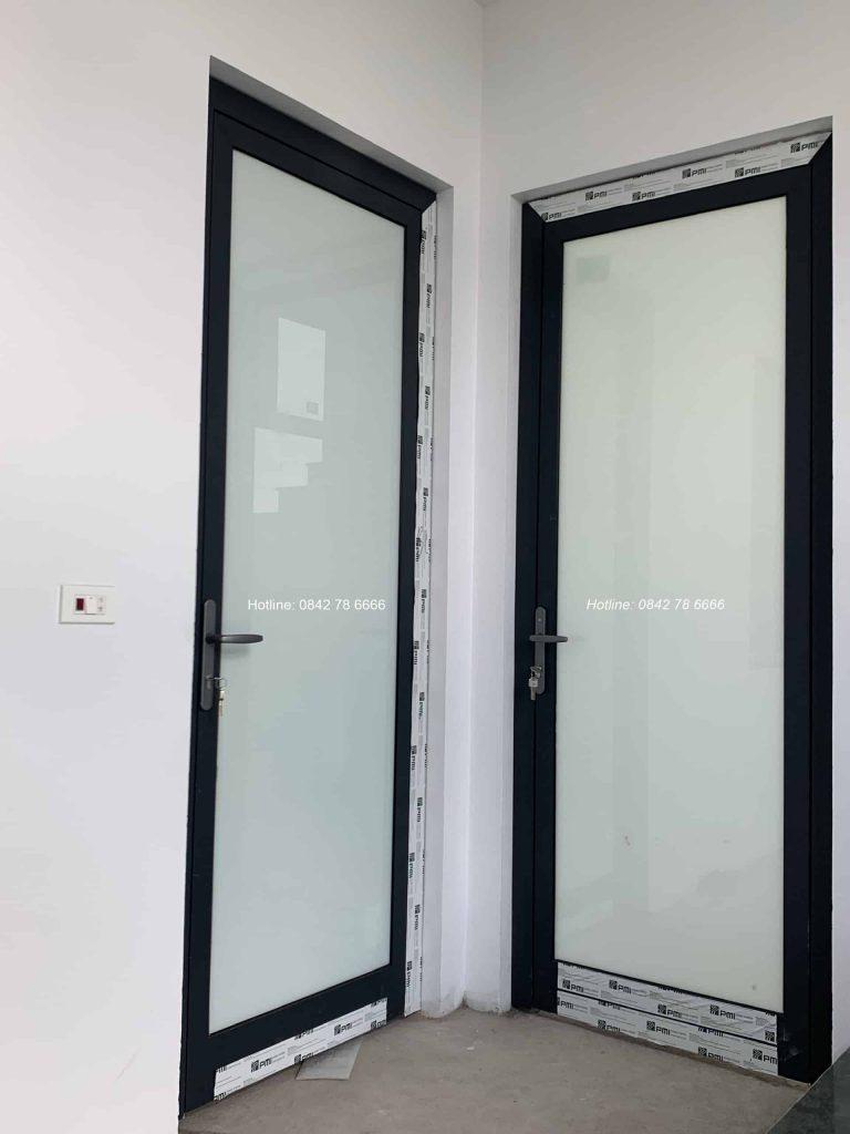 Cửa đi mở quay 1 cánh nhôm PMI cao cấp chính hãng - Cửa thông phòng nhôm Pmi Malaysia